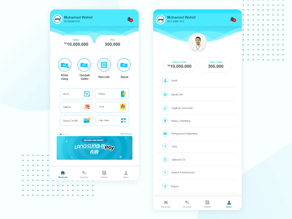 Free E Wallet Home Page Scene Ui/Ux 1