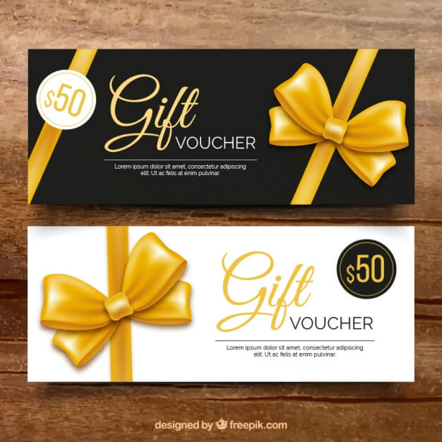 Ribbon Printed Gift Voucher Template