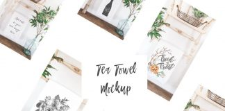 Tea Towel Mockup