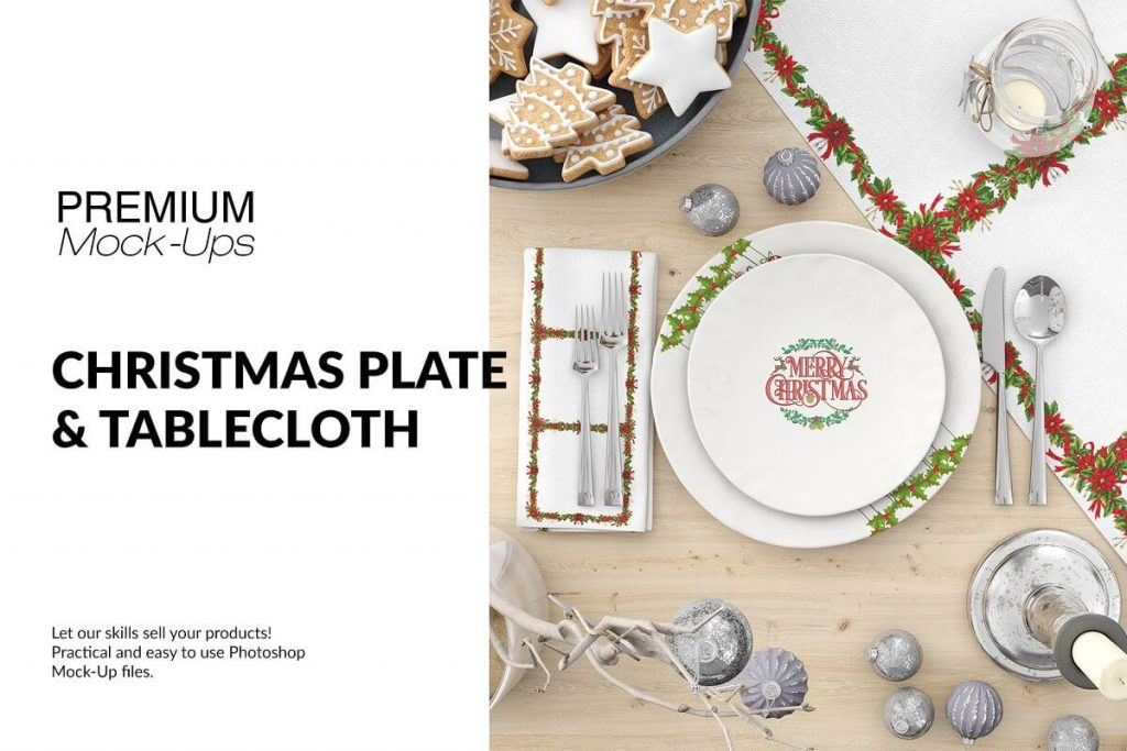 Amazing Design Christmas Plates And Napkin Template