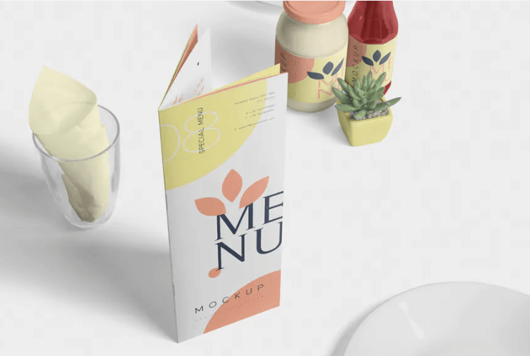 Napkin Placed On Glass Mockup