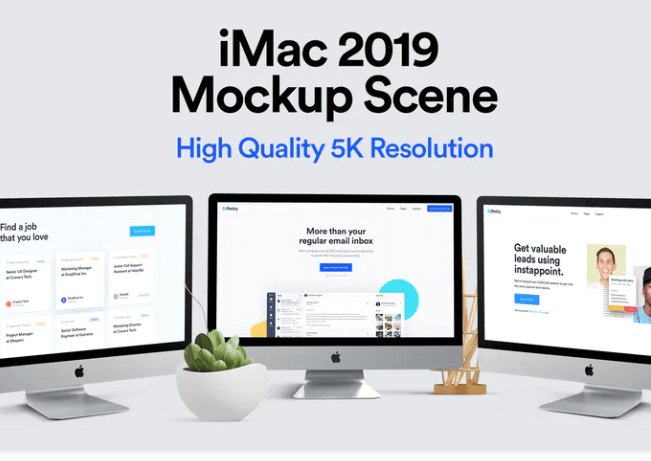 5k Resolution iMac PSD Template