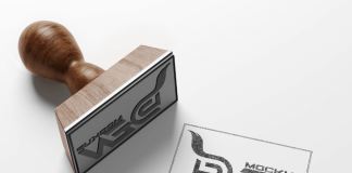 Free Wooden Stamp Design Mockup