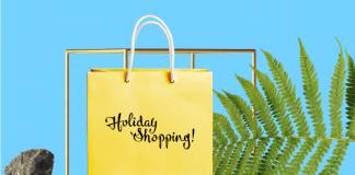 Free Yellow Holiday Sale Shopping Bag Mockup