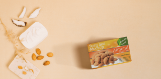 Free Almond Soap Packaging Box Mockup