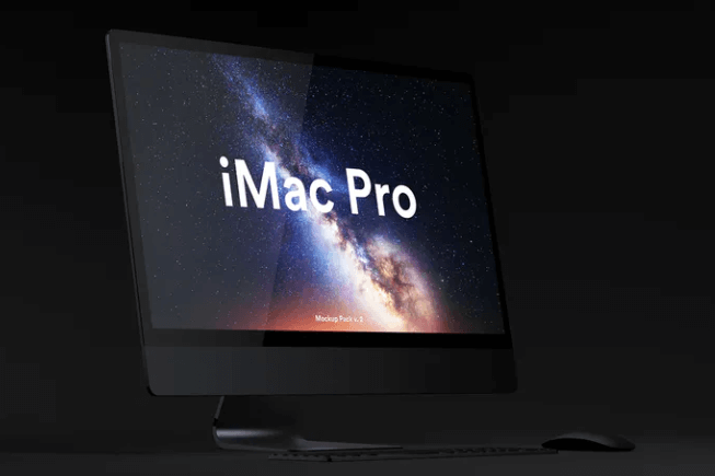 Galaxy Wallpaper Theme iMac Pro Mockup