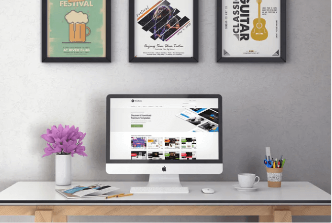 iMac On table Mockup
