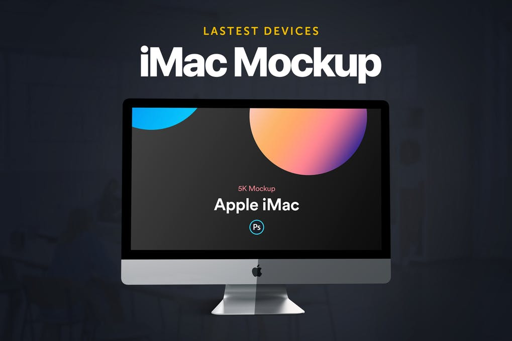 iMac Mockup | 25+ Best iMac Presentation Template in PSD & Vector 9