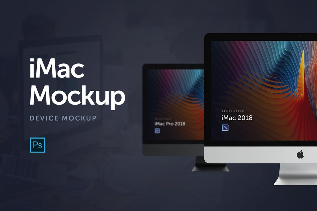 Black And White Color Theme iMac Device Scene