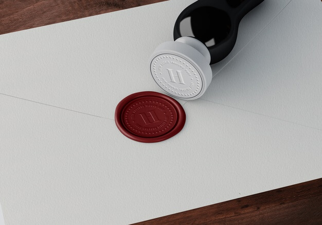 Glossy Stamp And Red Badge Template