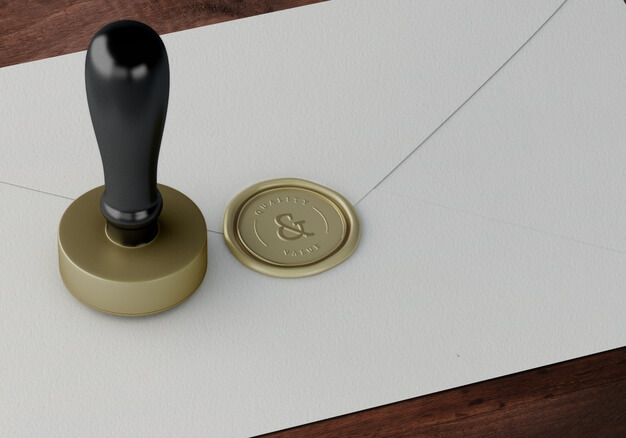 Golden Stamp And Badge Template