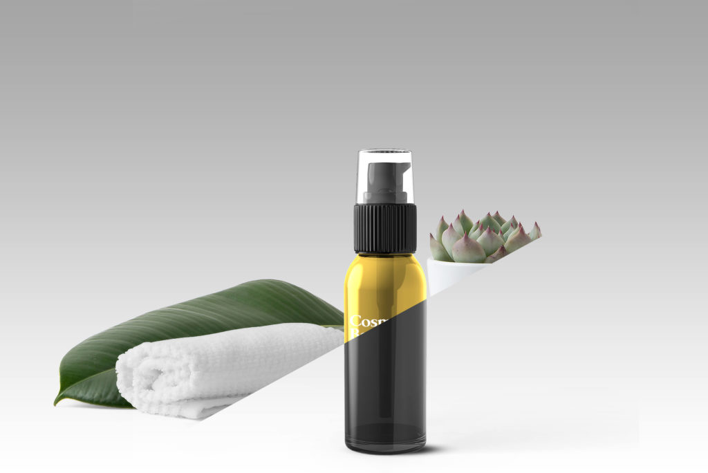 Free Cosmetic Bottle Mockup PSD Template