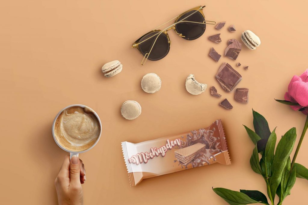 Free Chocolate Snack Mockup | Mockupden Exclusive 1