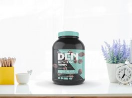 Free Protein Jar Mockup Psd Template