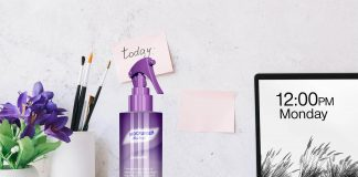Free Room Freshener Spray Bottle Mockup PSD Template