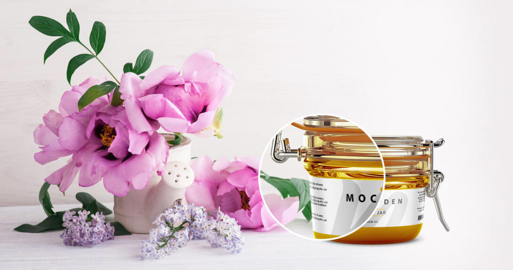 Free Honey Jar Mockup PSD Template