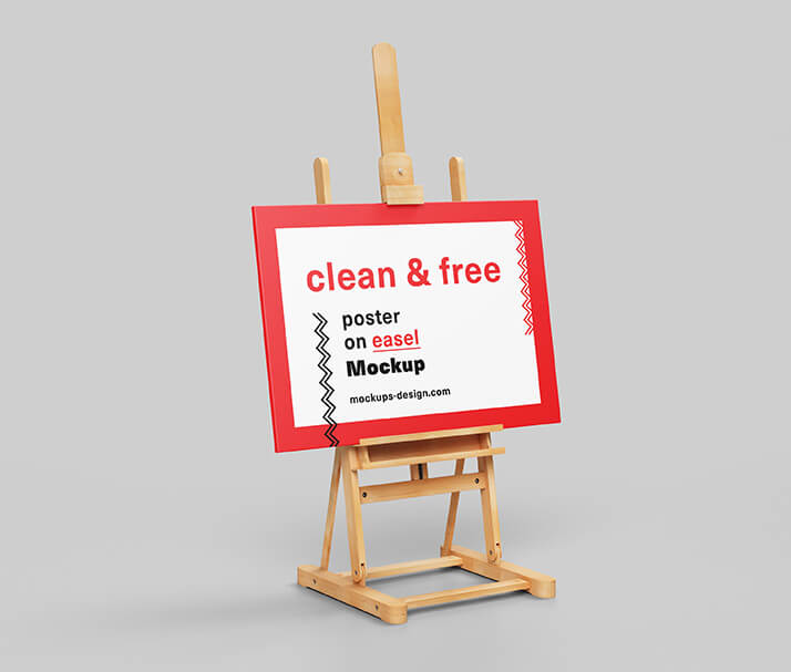 Minimal Easel Poster Template PSD