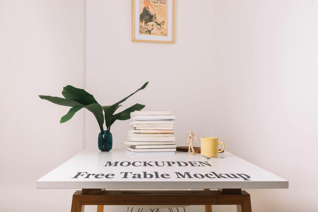 Free Table Mockup PSD Template
