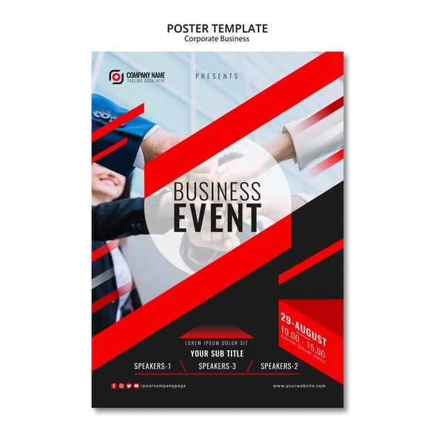 Minimal Business Event Poster Mockup