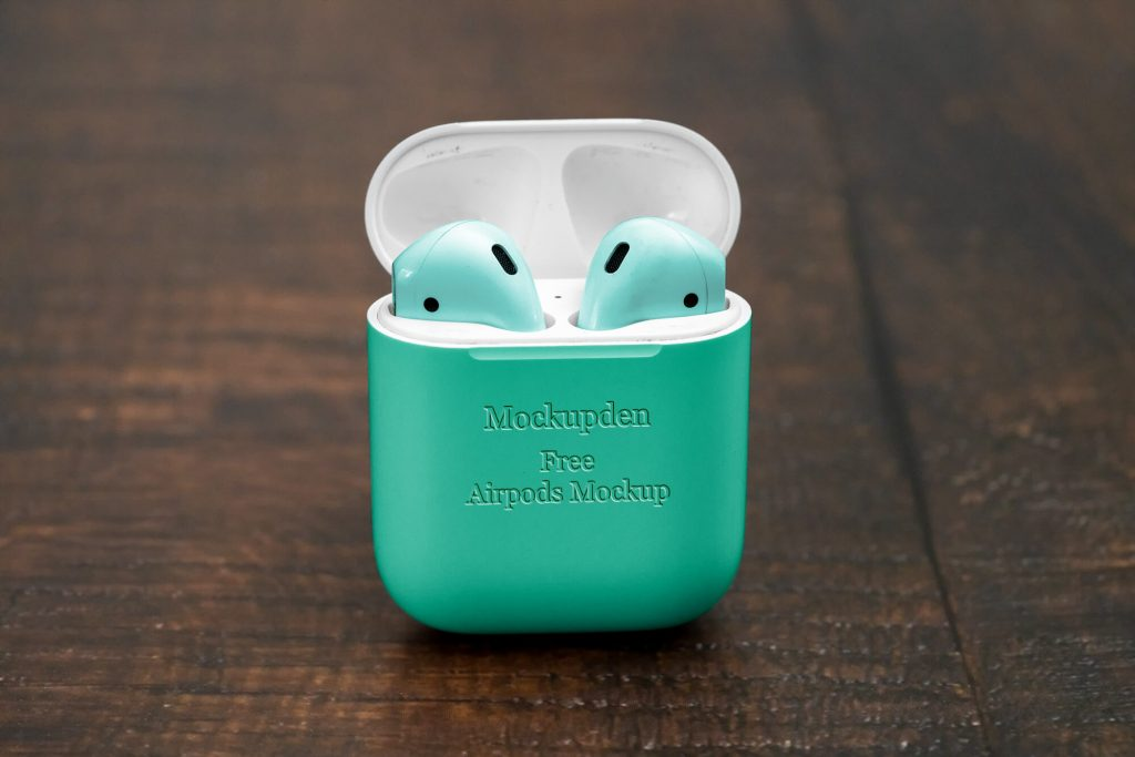 Free Air pods Mockup PSD Template