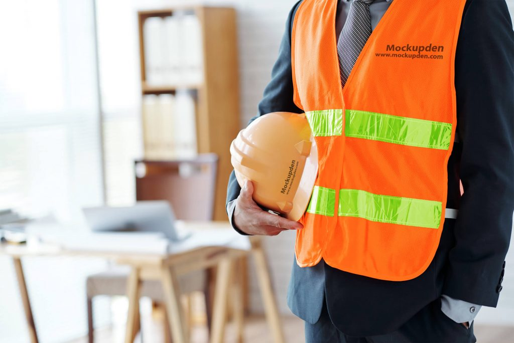 Free Construction Vest Mockup PSD Template
