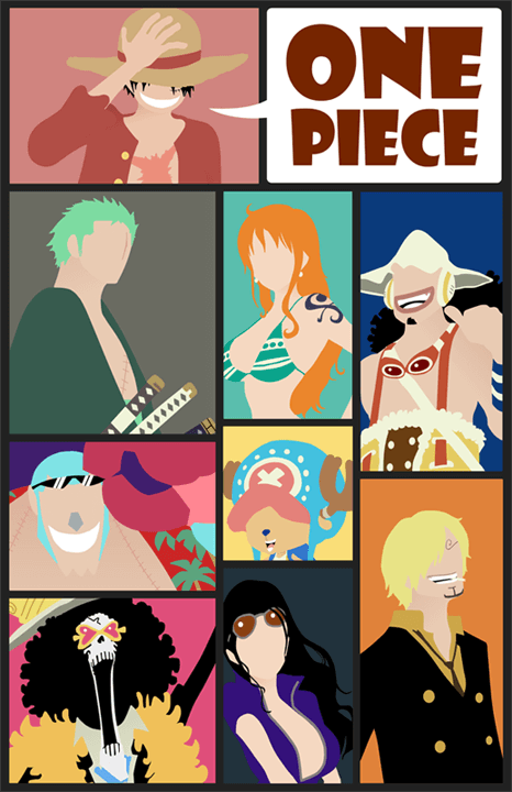 One Piece Cartoon Poster Mockup PSD