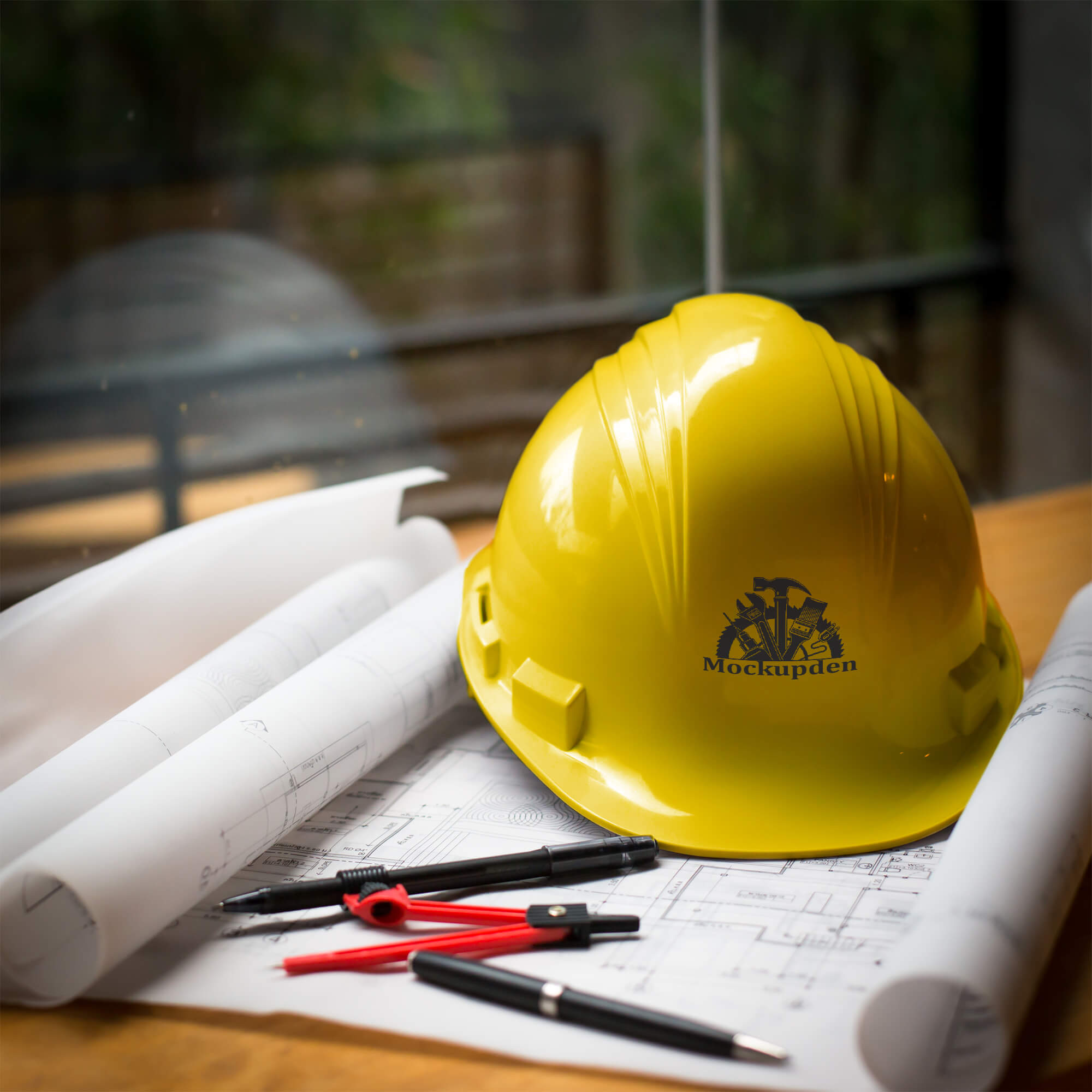 Free Hard Hat Mockup PSD Template