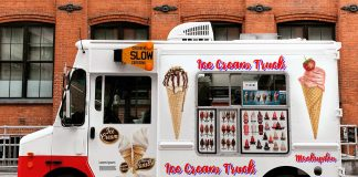 Free Ice Cream Truck Mockup PSD Template