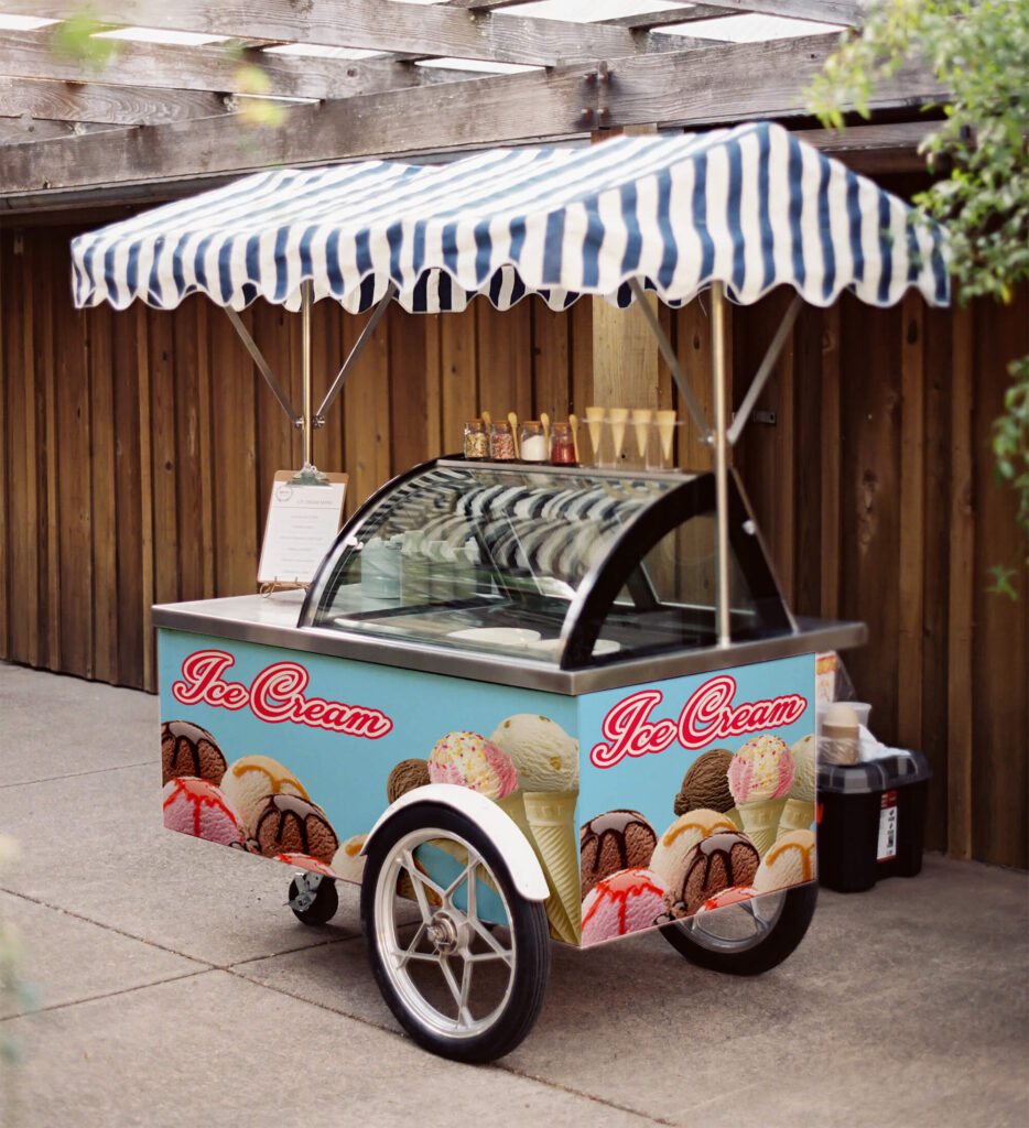 Free Ice Cream Cart Mockup PSD Template