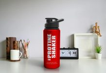 Free Protein Shaker Mockup PSd Template