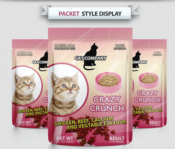 Cats Food Free Packet PSD Design