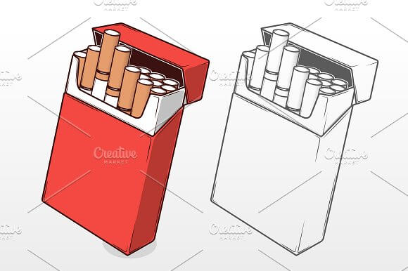 Cigarettes in a Red Packet