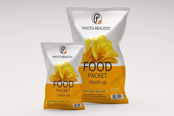 Photo Realistic Food Packet Template