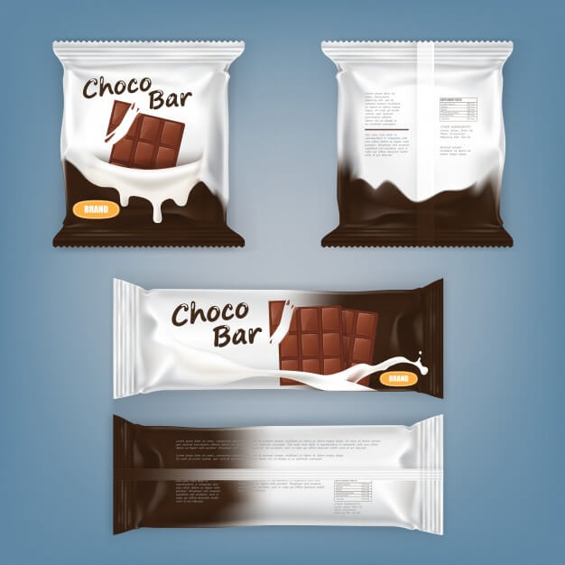 Chocolate Bars Packet Design