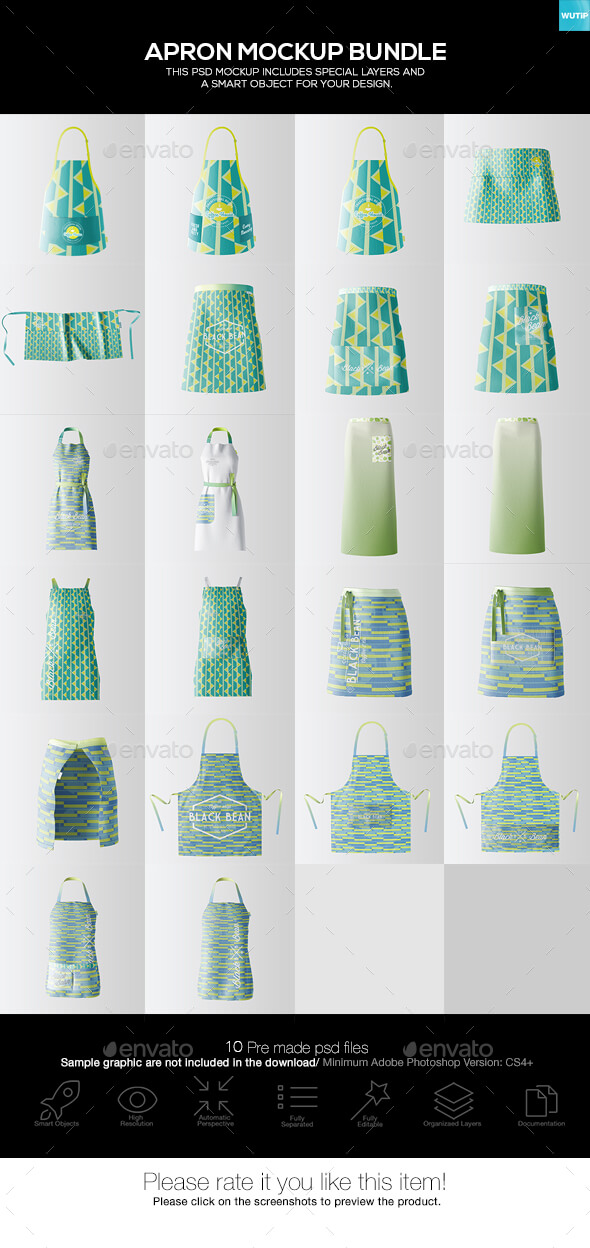 10 PSD File Of Apron Mockup