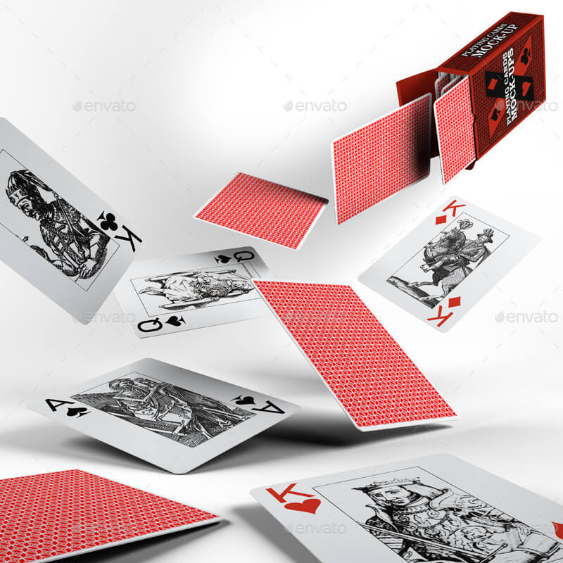 3D PLAYING CARDS Template Design