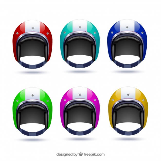 6 Different Colors Of Motorcycle Vector