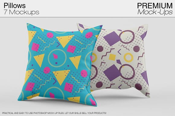 7 Different Cushion Designs Included PSD