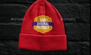 A Huge Pack Of Beanies PSD Mockup