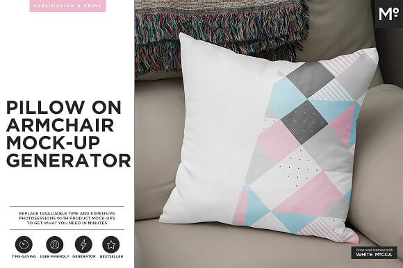 Arm Chair Cushion Design PSD