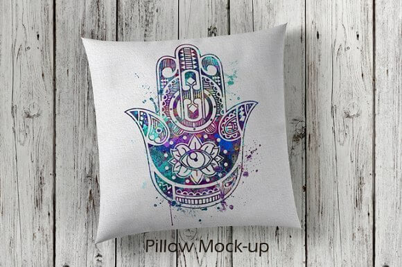 Artistic Designed PSD Cushion Design template