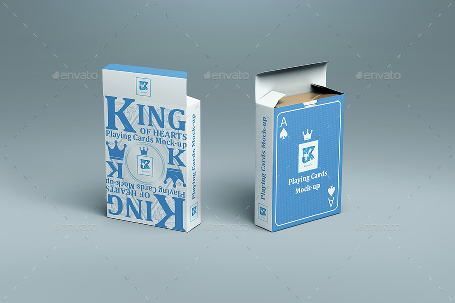 BLUE PLAYING CARDS PSD File Illustration