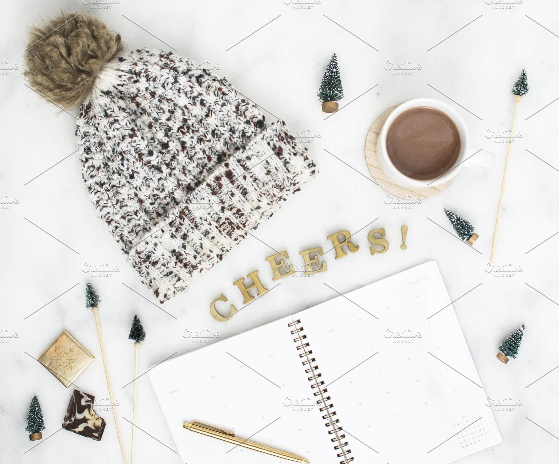 Beanies With Holiday Planner PSD Template