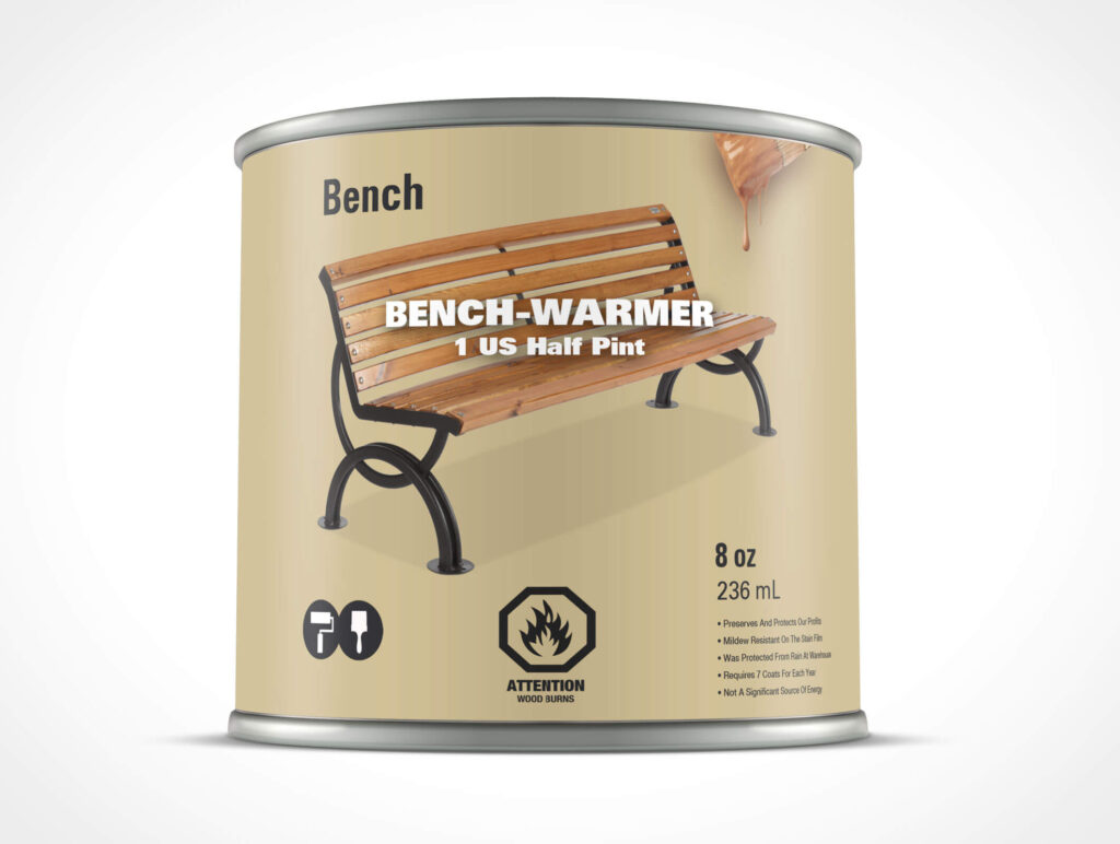 Bench Warmer Paint Can Mockup