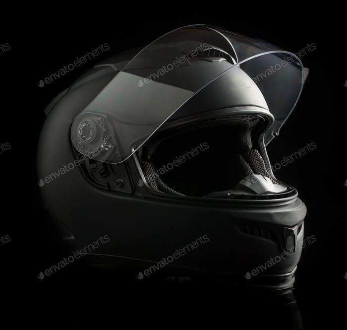 Black Colored Motorcycle Mockup