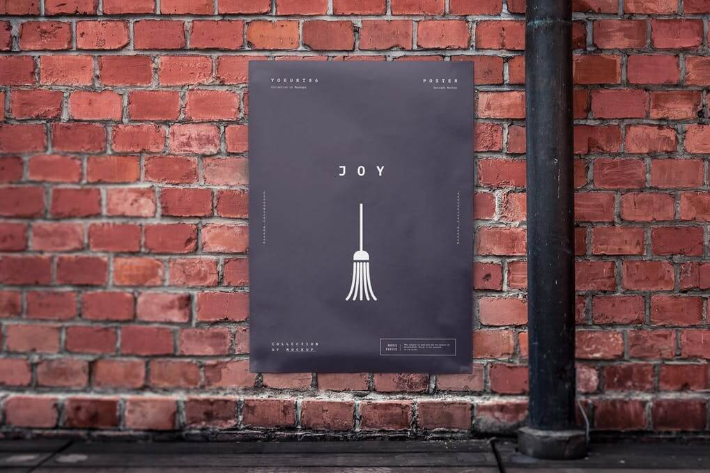 Black Poster Placed In A Urban Area Mockup