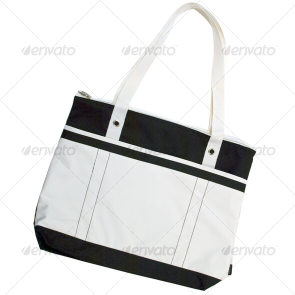 Black and White Tote Bag Design in PSD