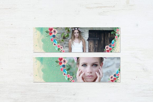 Bookmark with Images PSD