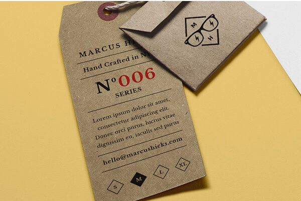 Brand Identity Design Hang Tag Template