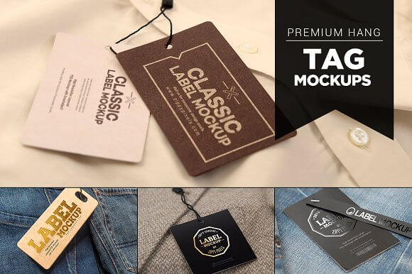 Classic Design Label And Tag Mockup